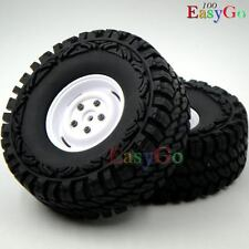 2pcs RC 1/10 115mm 1.9'' Tires Tyres W/ Hex 12mm Wheels for Crawler Truck Uprade