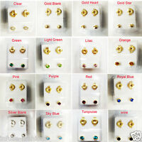 BRAND NEW EAR PIERCING STUDS EARRINGS STUD STERILE STUD GOLD SILVER CERTIFIED