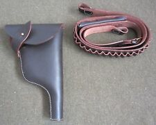 WWI WWII GERMAN HEER ARMY MAUSER C96 BOLO MAUSER HOLSTER AND AMMO BELT