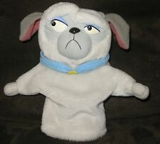 "Rare Percy Pocahontas Mattel Hand Puppet Puppy Dog Plush Stuffed Toy Gray 9"" HTF"