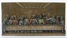 THE LAST SUPPER WALL PLAQUE STATUE HOME DECORATIVE.JESUS CHRIST.CHRISTIANITY