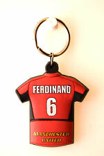 X25 Ferdinand 6 Keyring Man Utd Manchester United Football Club FC Red T-Shirt