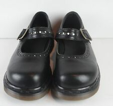 Dr. Martens Womens Mary Jane Shoes Black Leather ~ UK Size 7 ~ US 9M