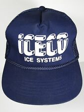 VINTAGE 1980s ICECO ICE SYSTEMS MACHINES Advertising TRUCKER SNAPBACK HAT CAP