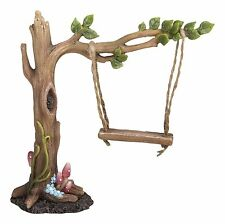 BRAND NEW LEAF TREE SWING GARDEN ORNMENT FAIRIES/PIXIES