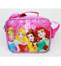 Disney Princess Insulated Pink Lunch Box Bag  Disney-  Cinderella, Ariel, Belle