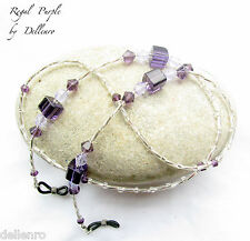 ✫REGAL PURPLE✫ BEADED EYEGLASS SPECTACLES GLASSES CHAIN HOLDER CORD
