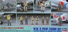 HASEGAWA® 36107 WWII Pilot Figuren Set (Japanese, German, US, RAF) in 1:48