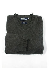 POLO BY RALPH LAUREN Mens Charcoal Gray Suede Elbow Patch Sweater Sz M