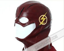 "The Flash Barry Allen Red Cosplay Costume Helmet Hat""The Leather Helmet Only"""