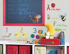 ABC 123 Wall Stickers Room Decor School Alphabet Decals Classroom Decorations