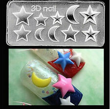 3D Nail Art Acrylic Mold Moon Star Shape DIY Manicure Tips Tool Decoration-72