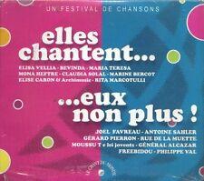 1275 // COFFRET 2 CD DIGIPACK ELLES CHANTENT EUX NON PLUS NEUF SOUS BLISTER