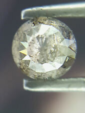Africn 0.24TCW 3.5MM Gray Nas color Round Rose Cut Antique Loose Natural Diamond