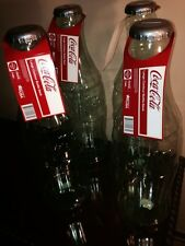 FOUR (4) Clear HUGE Coca Cola Coke Bottle Banks Almost 2Feet Tall $1.99 Shipping