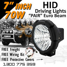 HID Xenon Driving Lights - Pair 7 Inch 70w Euro Beam 4x4 4wd Off Road 12v 24v