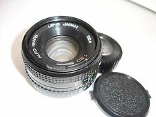 SEARS 50mm F/2 lens with caps for PENTAX K (PK) mount camera  SN220262  AS IS