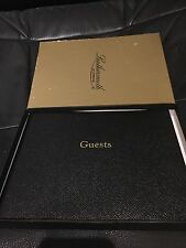 LEATHERSMITH OF LONDON BLACK GUESTS BOOK GBB68R - NEW IN BOX RRP £55