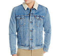 Levis Trucker Jacket Denim Men's Sherpa Lined - Medium