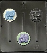Baby Elephant Lollipop Chocolate Candy Mold Baby Shower 697 NEW