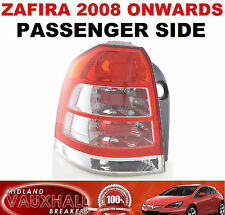 VAUXHALL ZAFIRA B 2008  BACK LIGHT REAR LENS LH PASSENGER SIDE SRI CDTI ECOFLEX