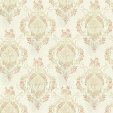 Dolls House Miniature Ornate Pink Damask Flower Wallpaper