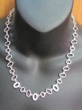 Elegant Modern Oval Necklace With Rhinestone Accents