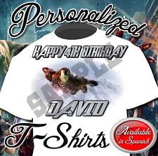 NEW CUSTOM PERSONALIZED AVENGERS 2 IRON MAN BIRTHDAY T SHIRT PARTY
