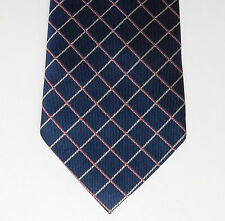 Check tie George mens clothing Navy blue pink white