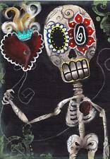 Take My Heart by Abril Andrade Griffith Fine Art Print Sugar Skull Skeleton