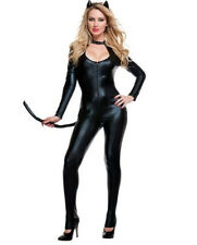 Women PVC Vinyl Erotic Leotard Costume Latex Bodysuit Catsuit Catwoman Bodysuit