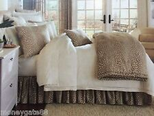 NOBLE EXCELLENCE VILLA AREZZO COTTON WILD LEOPARD PRINT TWIN BEDSKIRT NWT $69