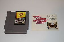 Win, Lose or Draw (Nintendo NES) With Instruction Booklet & Sleeve