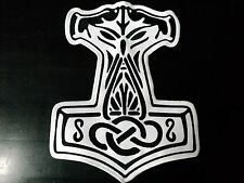 THOR HAMMER BLACK AND WHITE EMBROIDERED BACK PATCH