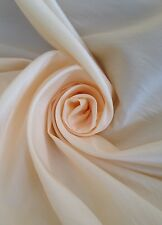 12 Metres Two Tone Taffeta Quality Curtain Fabric In Ivory