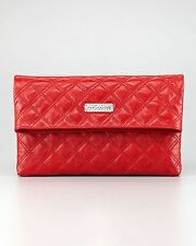 MARC JACOBS Eugenia Large Clutch Red Quilted Leather Bag