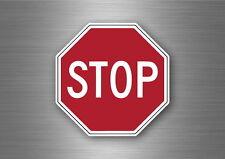 Adesivi adesivo sticker moto auto biker casco tuning stop pannello muro usa