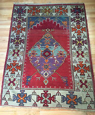 """Antique Turkish Kula Tribal Prayer Rug from the 1940s! """"Unique"""""""