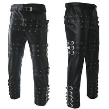 MJ Michael Jackson Punk Rivet BAD Concert Metal Rock Pants Trousers Chaparajos