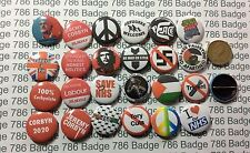 24  Badge Left Wing / Corbyn Political Peace NHS 1 inch /25mm Badges Free p+p