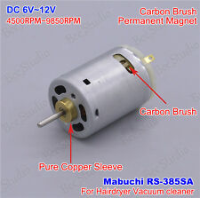 DC 6V-12V Mabuchi RS-385SA Carbon Brush motor for blow hair drier Vacuum cleaner