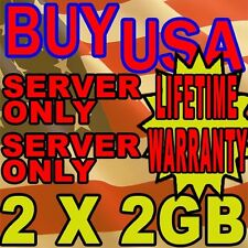 4GB (2X2GB) KIT RAM MEMORY PC2-5300 667MHZ 1.8V ECC FULLY BUFFERED DDR2 240 PIN