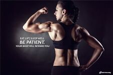 Sexy Girl Bodybuilding Fitness Motivational Gym Poster 36x24 B20