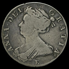 1708 Queen Anne Early Milled Silver Half Crown