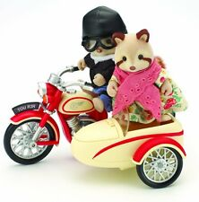 Calico Critters Sylvanian Families MOTORCYCLE AND SIDECAR Flair UK Retired 4511