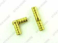 4mm ORO FINITURA FUSTO Cerniera Nascosta SCATOLA CILINDRICA piccole cerniere in metallo, confezione da 4