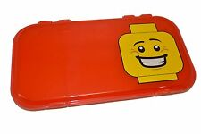 "LEGO MiniFigure RED Storage Case Box Display NEW 11"" x 6"" Iris Plastic FAST SHIP"
