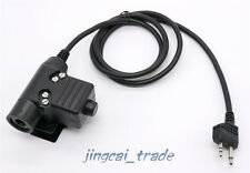 Z-Tactical U94 Headset Cable Adapter & PTT for Midland G6 G7 GXT760 2-Pin Radio