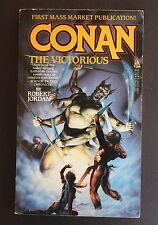 CONAN THE VICTORIOUS by ROBERT JORDAN VG+ 1ST KIRK REINERT COVER SHARP!