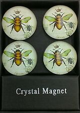 Imperial Honey Bee Crystal Magnets - Set of 4 - Gift Box - Refrigerator
